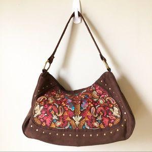 Coldwater Creek | Suede Embroidered Handbag